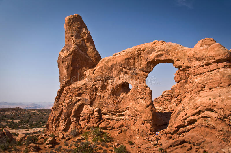 Arco da torreta, arcos parque nacional, Utá foto de stock royalty free