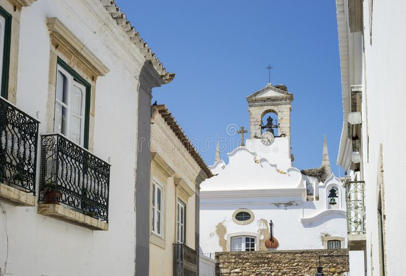 Arco da vila gateway leading to old town of Faro, Portugal stock photography
