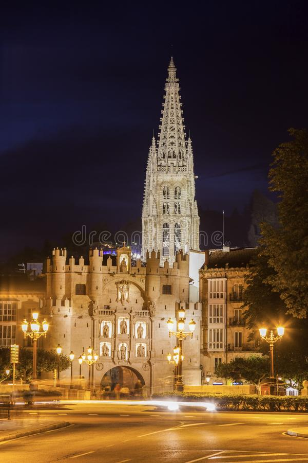 Arco de Σάντα Μαρία στο Burgos στοκ φωτογραφία με δικαίωμα ελεύθερης χρήσης