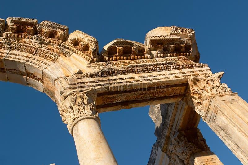 Arco de Ancien en Ephesus fotografía de archivo libre de regalías