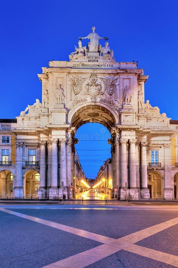 Arco de Augusta en Lisboa imagen de archivo libre de regalías