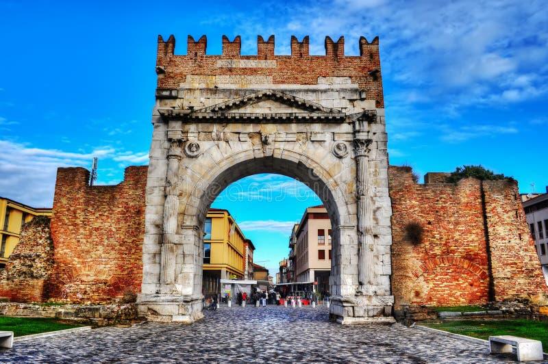 Arco de Augustus em Rimini imagem de stock