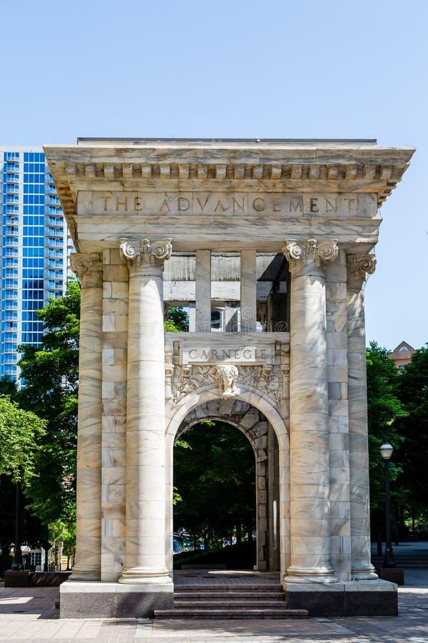 Arco de Carnegie em Atlanta foto de stock royalty free
