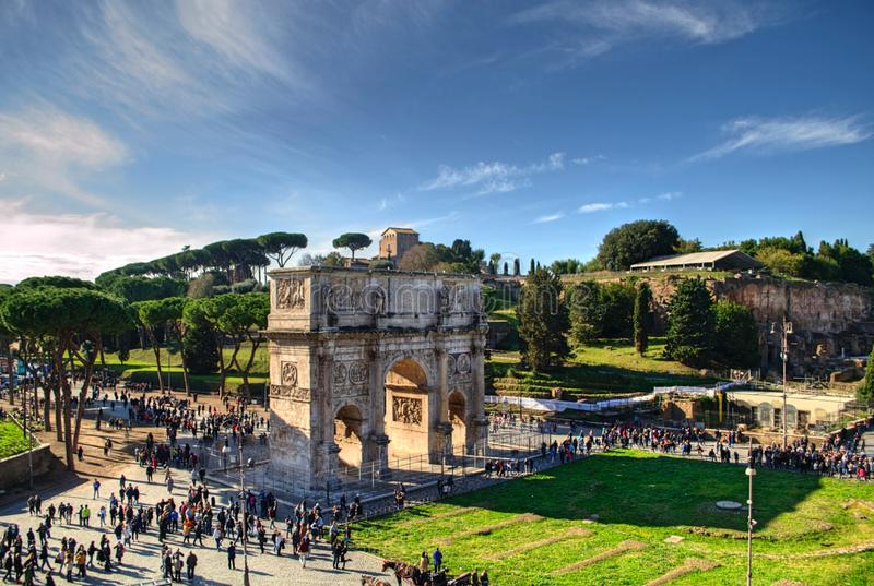 Arco de Constantim em Roma, Itália imagens de stock royalty free