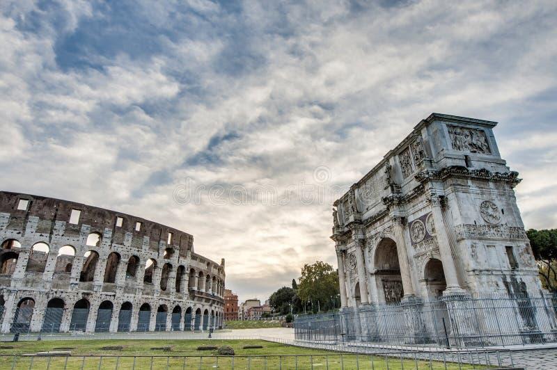 Arco de Constantim em Roma, Itália fotos de stock royalty free