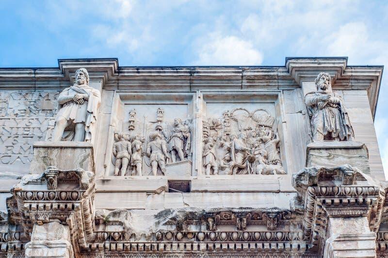 Arco de Constantim em Roma, Italia fotografia de stock