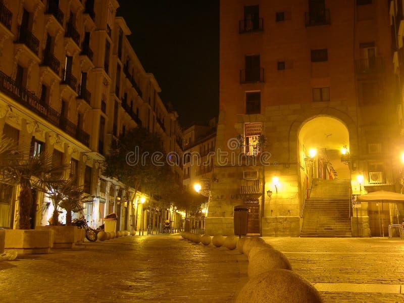 Arco de Cuchilleros Madrid la nuit Espagne photos libres de droits