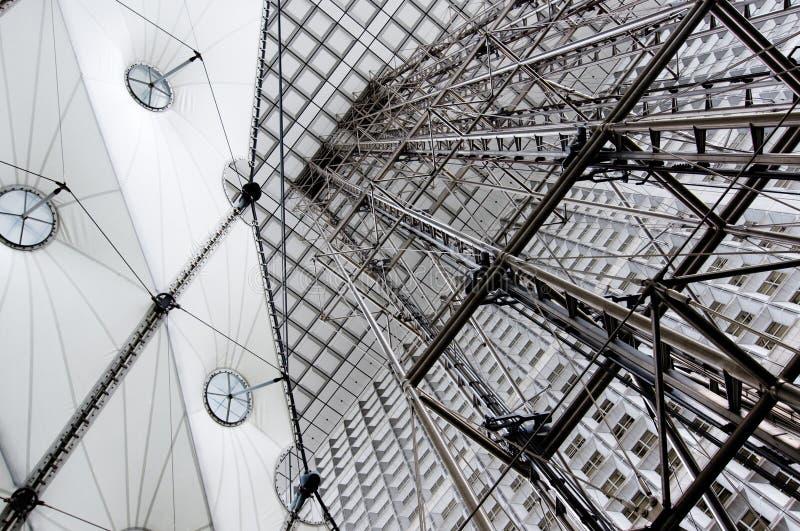 Arco de defense, Parigi, Francia, corsa, costruzione, s immagini stock