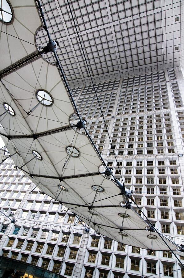 Arco de defense, Parigi, Francia, corsa, costruzione, s immagine stock libera da diritti