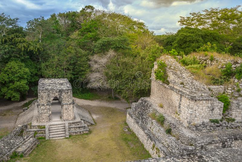 Arco de Entrada στην αρχαία των Μάγια πόλη Ek Balam στοκ φωτογραφίες με δικαίωμα ελεύθερης χρήσης
