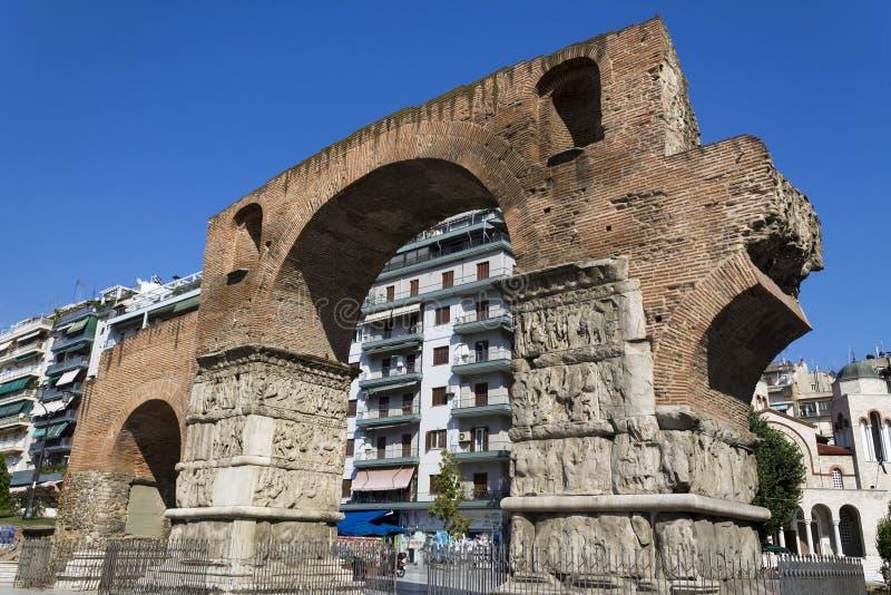 Arco de Galerius imagen de archivo