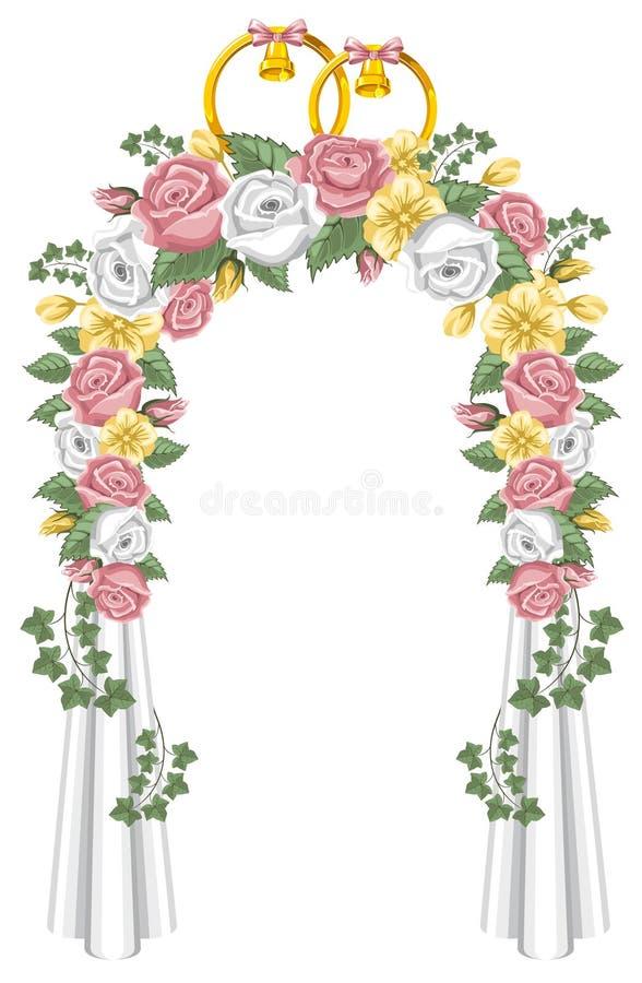 Arco de la boda stock de ilustración