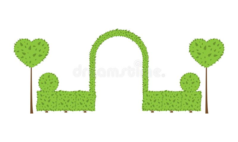 Arco de la boda del Topiary libre illustration
