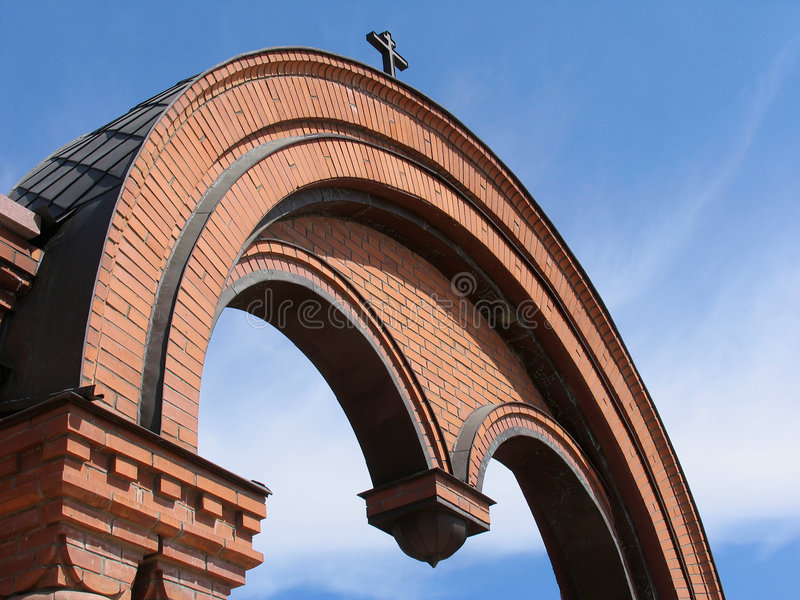 Arco de la catedral de Alexander Nevskii fotografía de archivo