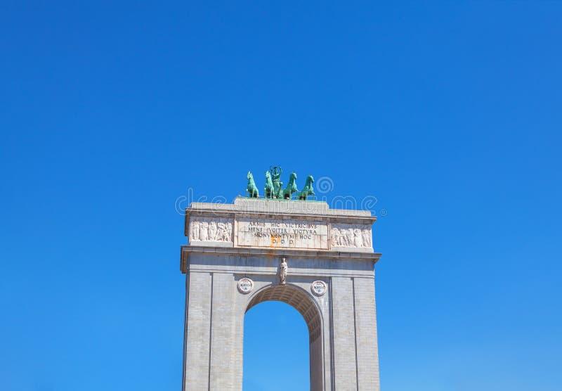 Arco de la Concordia imagem de stock