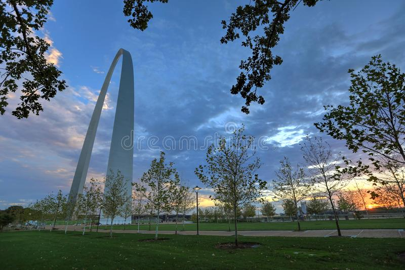 Arco de la entrada en St. Louis, Missouri fotografía de archivo libre de regalías