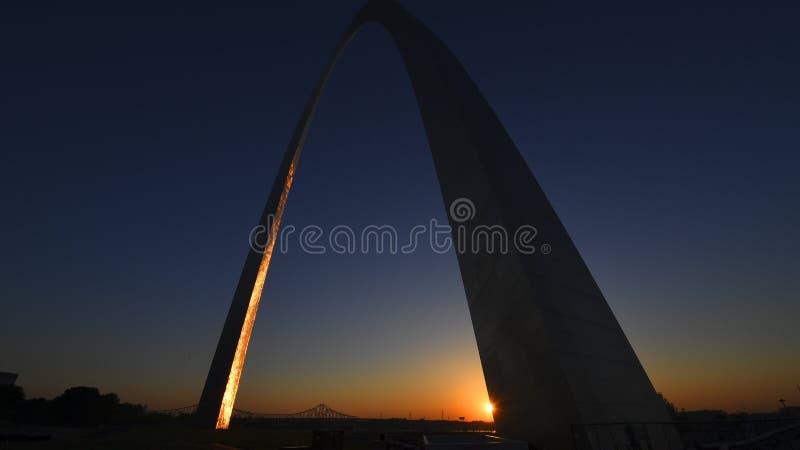 Arco de la entrada en St. Louis, Missouri foto de archivo libre de regalías