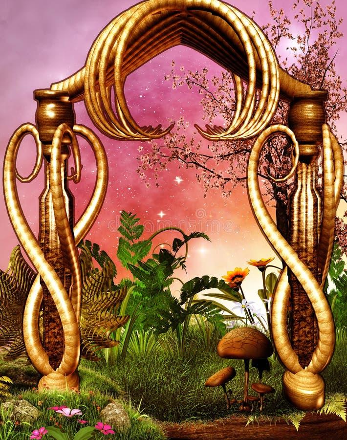Arco de la fantasía ilustración del vector