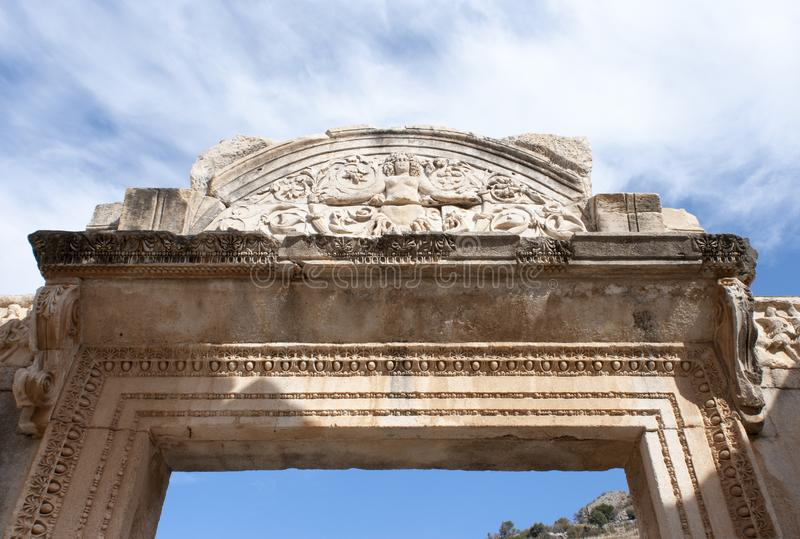 Arco de la puerta de Ephesus fotografía de archivo