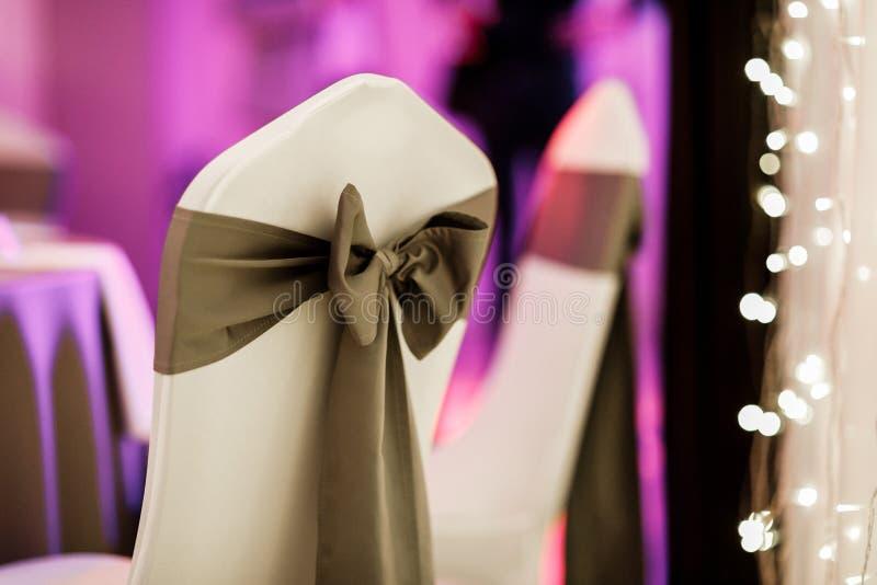 Arco de la silla de la boda foto de archivo libre de regalías