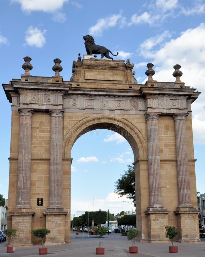 Arco de Leon Guanajuato imagem de stock