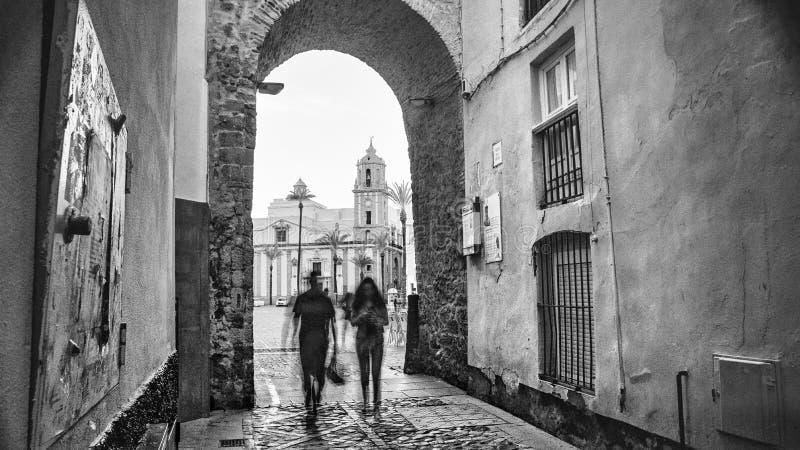 Arco De Los angeles Rosa Cadiz Hiszpania zdjęcie royalty free