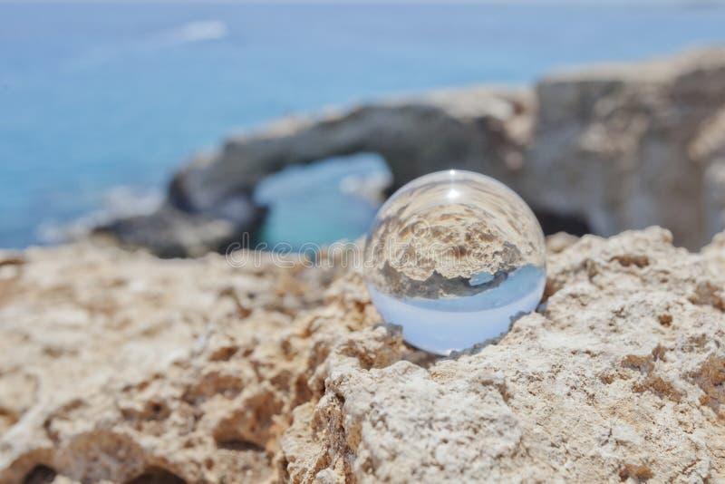 Arco de Monachus Cabo do greco de Cavo Ayia Napa, Chipre fotos de stock royalty free