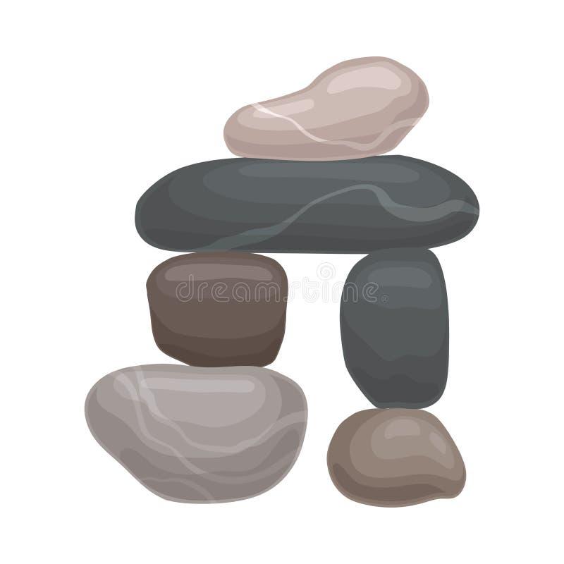 Arco de piedras Ilustraci?n del vector en el fondo blanco libre illustration