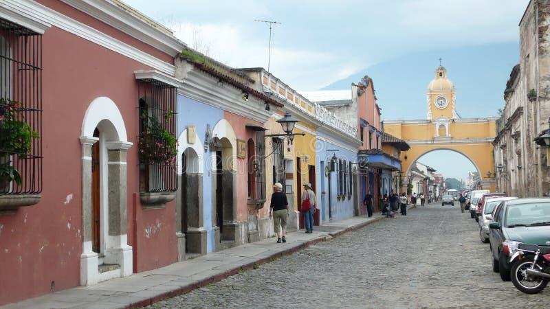 Arco de Santa Catalina em Antígua. Guatemala foto de stock royalty free