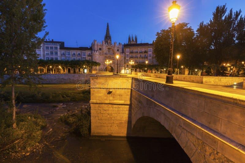 Arco De Santa Maria à Burgos photos libres de droits