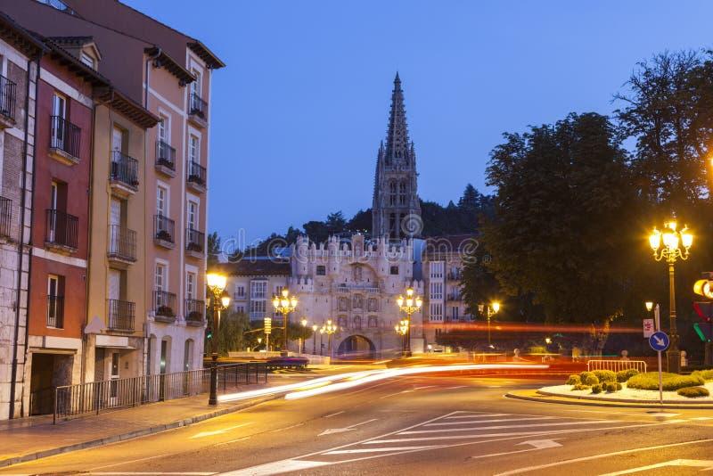 Arco De Santa Maria à Burgos images libres de droits