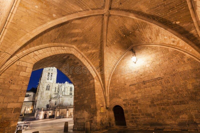 Arco DE Santa Maria in Burgos stock foto