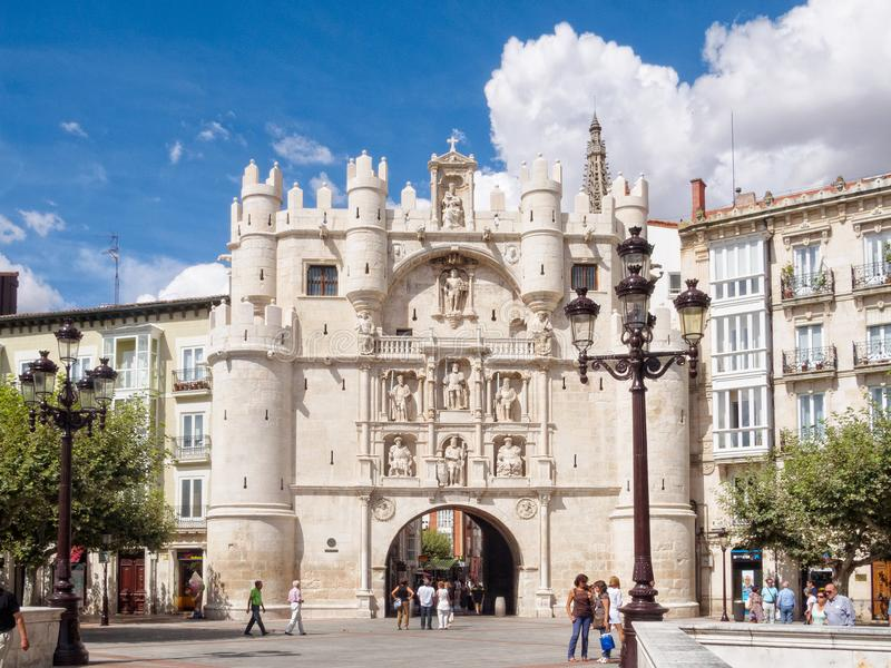 Arco de Santa Maria - Burgos fotos de stock royalty free