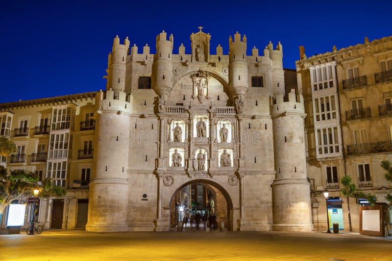 Arco DE Santa Maria in Burgos stock fotografie