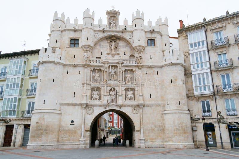 Arco de Santa Maria a Burgos (Spagna) immagini stock libere da diritti