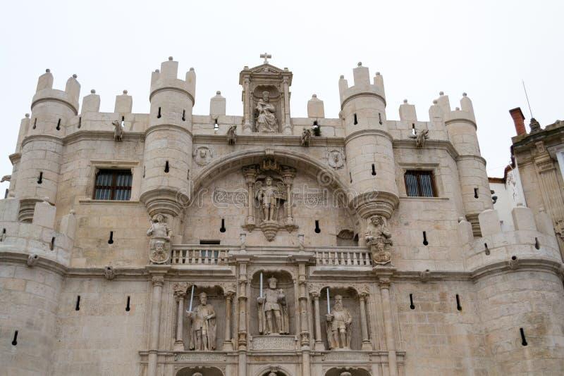 Arco DE Santa Maria in Burgos (Spanje) royalty-vrije stock afbeelding