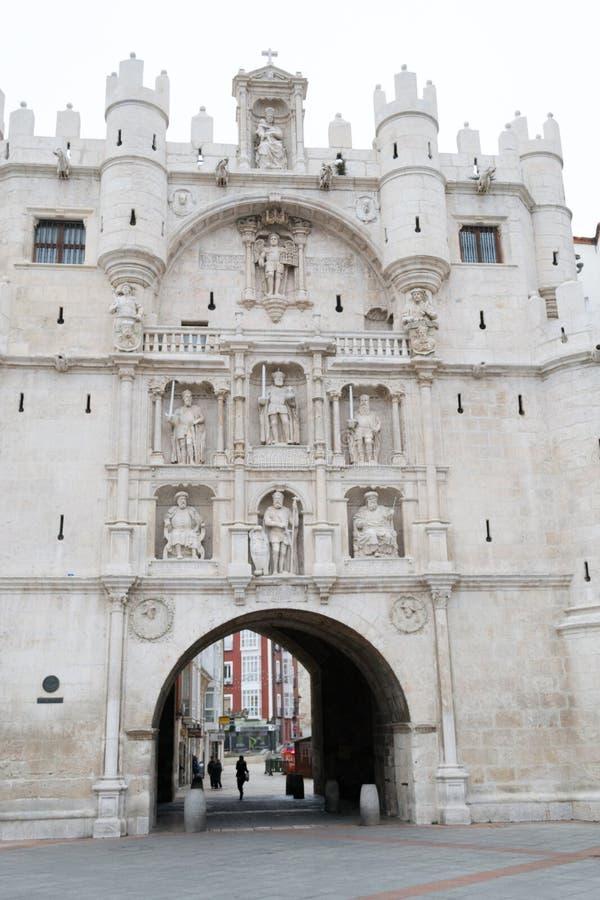Arco DE Santa Maria in Burgos (Spanje) royalty-vrije stock foto's