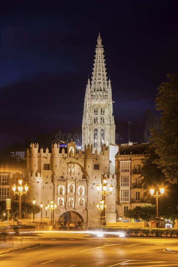 Arco de Santa Maria em Burgos fotografia de stock royalty free