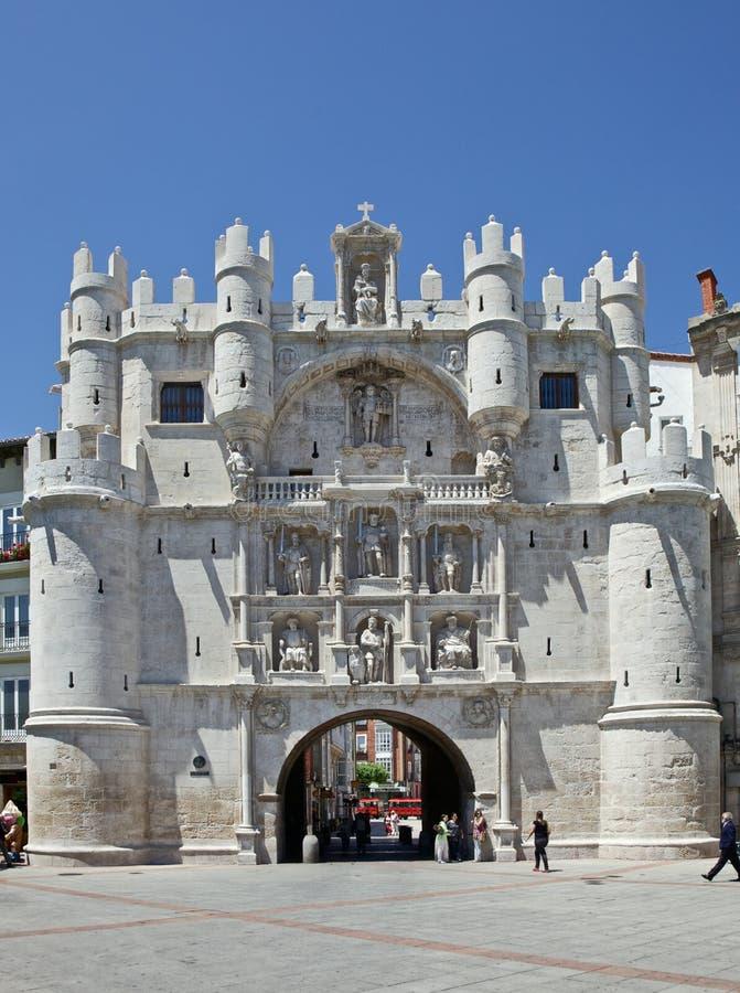 Arco de Santa Maria em Burgos imagens de stock