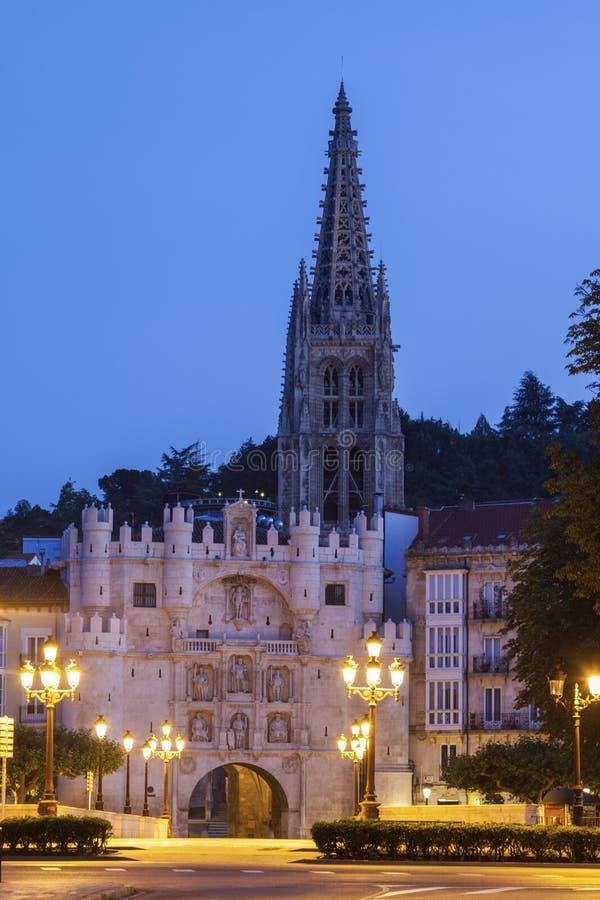 Arco de Santa Maria en Burgos foto de archivo libre de regalías
