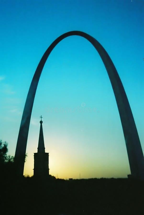 Arco de St Louis imagens de stock