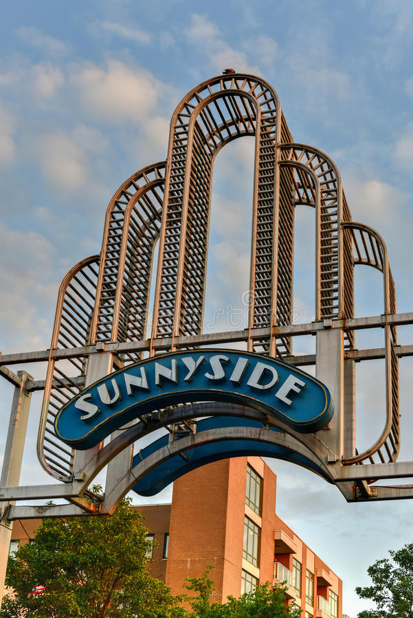 Arco de Sunnyside - Queens, Nueva York fotos de archivo libres de regalías