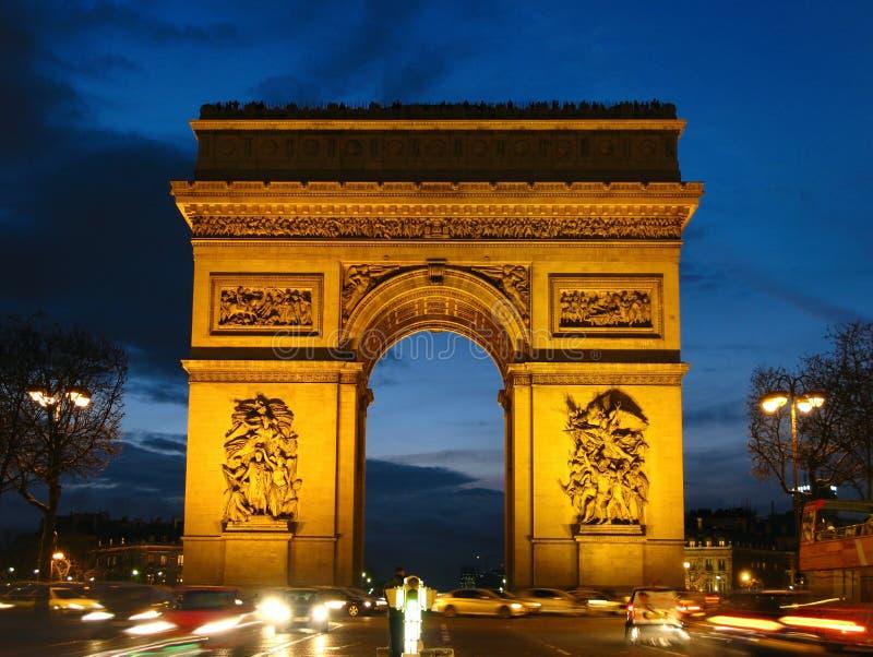 Arco de Thriumph 02, París, Francia fotografía de archivo libre de regalías