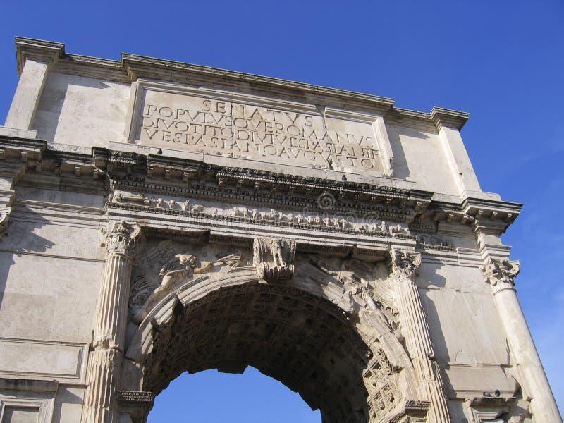 Arco de Tito do triunfo fotografia de stock royalty free
