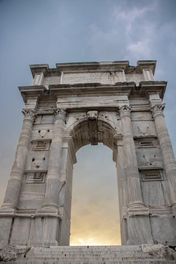 Arco de Trajan imagens de stock