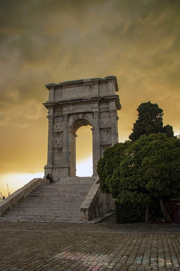 Arco de Trajan fotografia de stock royalty free