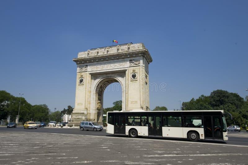 Arco de Triumph, Bucarest fotografía de archivo libre de regalías