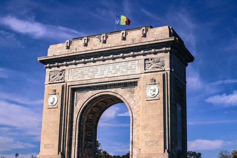 Arco de Triumph Bucareste imagem de stock