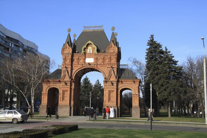 Arco de Triumph em Krasnodar imagem de stock