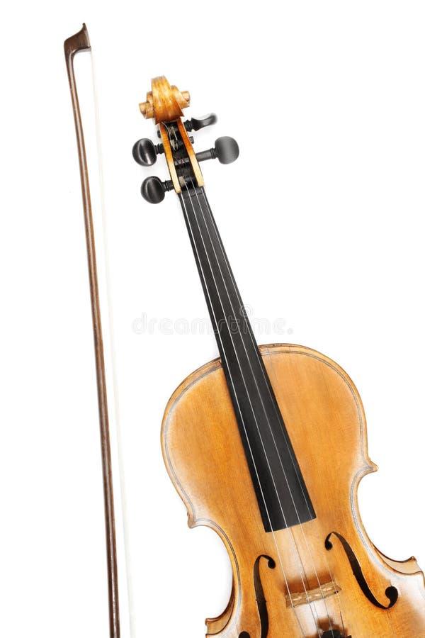 Arco de violín aislado fotografía de archivo
